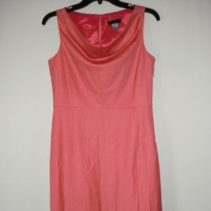 j crew coral pink wool lined sleeveless dress 4P